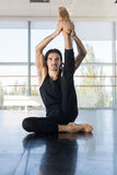 Young Male Ballet Dancer Sit On Floor Stretching, Man Practicing Royalty Free Stock Photos