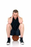 Young male basketball player Stock Images