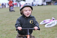 Young Male Bicycle Racer During Cycloross Event Royalty Free Stock Image
