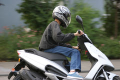Young male Biker Royalty Free Stock Photos