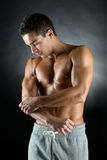 Young male bodybuilder Royalty Free Stock Images
