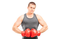Young male boxer Royalty Free Stock Photos