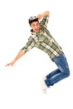 Young male breakdancer Royalty Free Stock Images