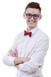 Young male businessman posing confidently Stock Photography