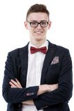 Young male businessman posing confidently Royalty Free Stock Photo