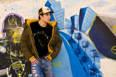 Young male in casual clothing Royalty Free Stock Images