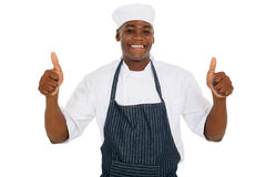 Young male chef royalty free stock image