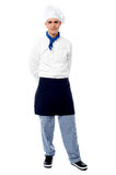 Young male chef posing casually Royalty Free Stock Photography