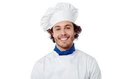 Young male chef wearing toque Stock Photos