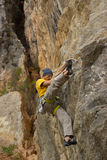 Young male climber. Stock Image