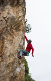 Young male climber. Stock Photo