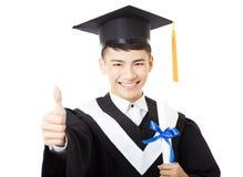 Young  male college graduate portrait. Happy young  male college graduate portrait Stock Photos
