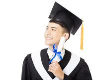 Young  male college graduate portrait Royalty Free Stock Photos