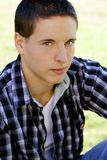 Young male college student. A young boy male teen age college student on campus Royalty Free Stock Images