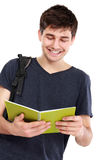 Young male college student with books Royalty Free Stock Photos
