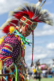 Young male dancer. Coeur d'Alene, Idaho USA - 07-23-2016. Young dancer participates in the Julyamsh Powwow on July 23, 2016 at the Kootenai County Fairgrounds Stock Images