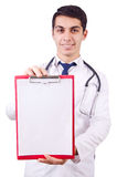 Young male doctor isolated Royalty Free Stock Images