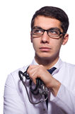 Young male doctor isolated Royalty Free Stock Photography