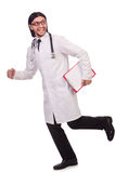 Young male doctor isolated Royalty Free Stock Image