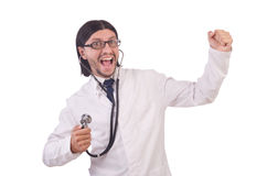 Young male doctor isolated Stock Photography