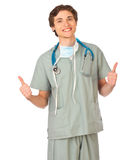 Young male doctor smiling Royalty Free Stock Photo