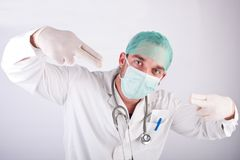 Young male doctor Stock Images