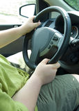 Young male driving stock image