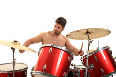 Young male drummer Stock Images