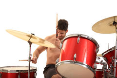 Young male drummer Stock Photo