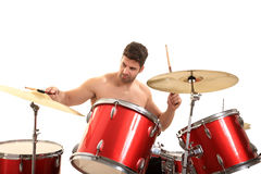 Young male drummer Royalty Free Stock Images