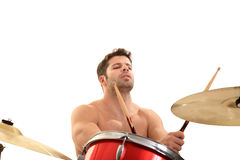 Young male drummer Royalty Free Stock Photography