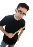 Young male drummer with sticks Stock Image