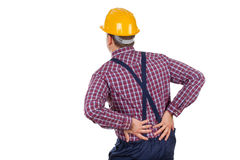 Young male engineer having backpain Royalty Free Stock Photos