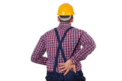 Young male engineer having backpain Stock Photos