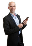 Young male executive using digital tablet Stock Images