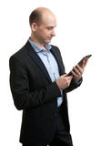 Young male executive using digital tablet Royalty Free Stock Image