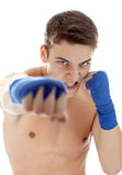 Young male fighter Royalty Free Stock Photography