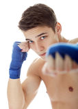 Young male fighter Royalty Free Stock Photos