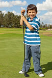 Young male golf player Stock Photography
