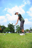 Young male golf player Stock Image