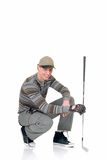 Young male golfer Stock Photo