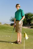 Young Male Golfer Playing Golf Royalty Free Stock Images