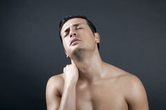 Pain On My Shoulder Stock Image