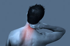 Pain In The Neck Royalty Free Stock Photography