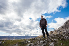 Young male hiker Royalty Free Stock Images