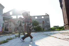 Young male hip hop or street dancer Stock Images