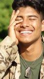 Happy Minority Male Soldier Stock Photos