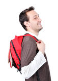 Young male holding bag Royalty Free Stock Photo