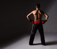 Young male kickboxer Stock Image