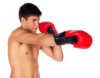 Young male kickboxer Stock Photo
